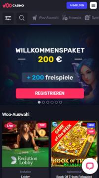 Mobile casino Woo